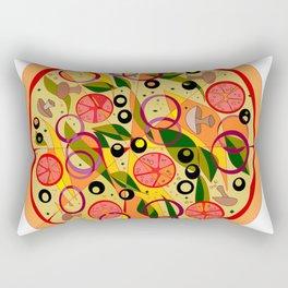 A Veggie Pizza, my Favorite Rectangular Pillow
