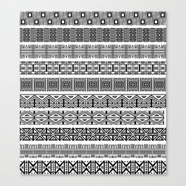 Borders ikat ethnic frame tribal -- Canvas Print