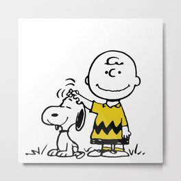 carly and snoopy Metal Print