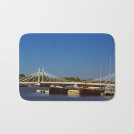 Albert Bridge on the Thames in London Bath Mat