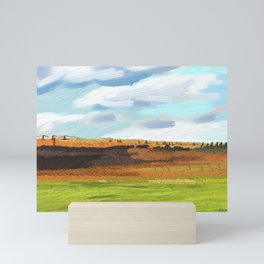 Farming Plain Mini Art Print