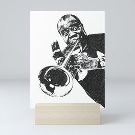 S6 - Louis - Louie - Daniel Armstrong Satchmo - Satch - Pops - Pop Sketch-Art 4223 Mini Art Print