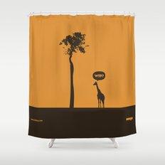 WTF? Jirafa! Shower Curtain