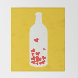 Message in a bottle Throw Blanket
