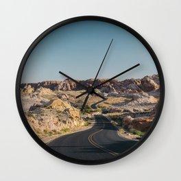 Windy Desert Road Wall Clock