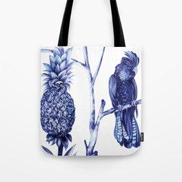 Pineapple and Bird Tote Bag