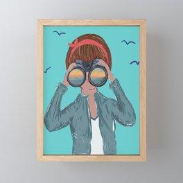 Bird Watcher Framed Mini Art Print