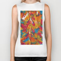 psychedelic Biker Tanks featuring Psychedelic by DuckyB