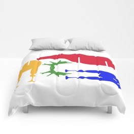 Moose Coloured Puzzle Pattern Comforters