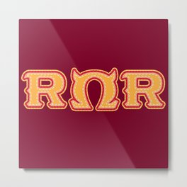 Monster University Fraternity : Roar Omega Roar Metal Print
