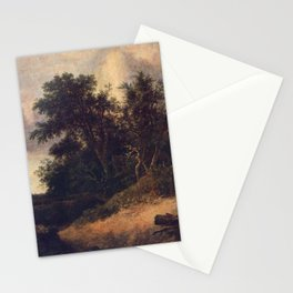 Jacob van Ruisdael - Peasant Cottage in a Landscape Stationery Cards