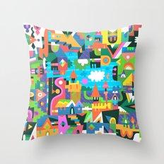 Neighbourhood 2 Throw Pillow