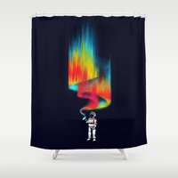 budi Shower Curtains featuring Space vandal by Picomodi