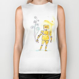 Yellow Wants To Go Out Like A Blister In The Sun Biker Tank