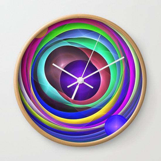 Cool Colourful Fractal Circles Wall Clock