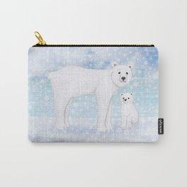 polar bears in the snow Carry-All Pouch