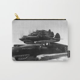 Flying Tigers - Hell's Angels Squadron In Formation - 1942 Carry-All Pouch