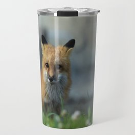 Snow on the Red Fox Noze Travel Mug