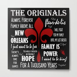 The Originals inspired art print (Black) Metal Print