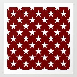 Stars on Crimson Art Print