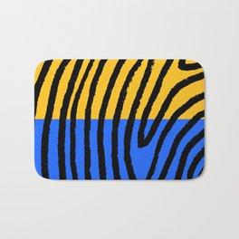 blue/yellow/black Bath Mat