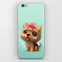 terrier iPhone & iPod Skins featuring Yorkshire Terrier by Antracit