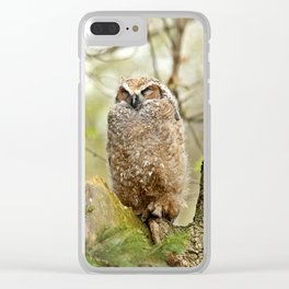 Sleeping in the Rain Clear iPhone Case