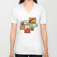 frames V-neck T-shirts featuring S6 Tee - Frames by Josè Sala