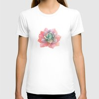 succulents T-shirts featuring succulents by NuroNuro