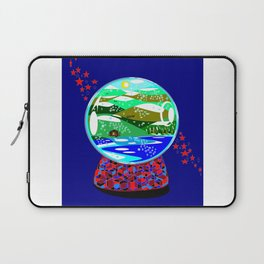 A Snow Globe of the Mountains of Kentucky Laptop Sleeve