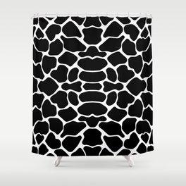 Black Safari Giraffe Shower Curtain