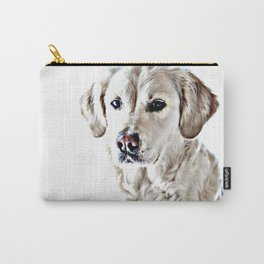 Drawing of a Yellow Lab Carry-All Pouch
