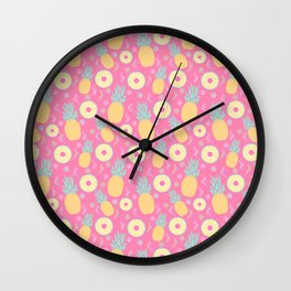 Pink Pinapple Wall Clock