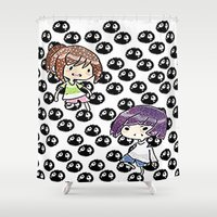 spirited away Shower Curtains featuring spirited away  by grapeloverarts