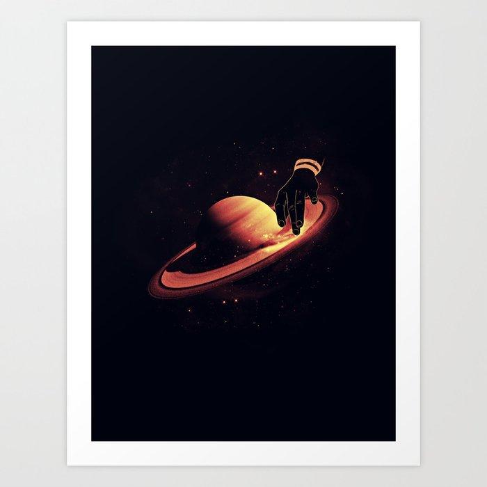 Saturntable Art Print