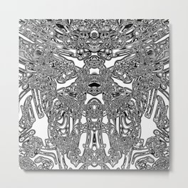 Brain activity Metal Print