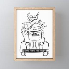 Plants Make Me Happy Framed Mini Art Print