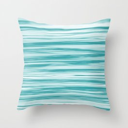Aqua Teal Turquoise Soft Focus Motion Blue Watercolor Blend - Aquarium SW 6767 Throw Pillow
