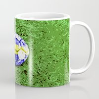 sweden Mugs featuring Old football (Sweden) by seb mcnulty