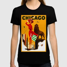 Vintage Chicago Illinois Travel T-shirt