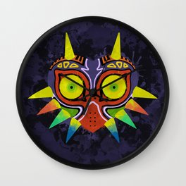 Majora's Mask Splatter Wall Clock