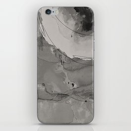 Abstract Watercolor b/w iPhone Skin