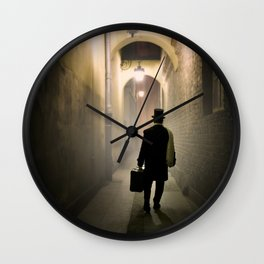 Victorian man with top hat Wall Clock