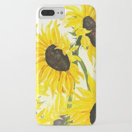 sunflower watercolor 2017 iPhone Case