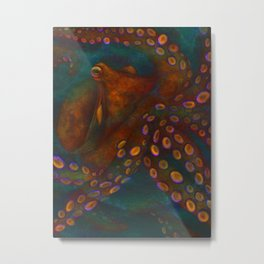 Euphoric Octopus Metal Print