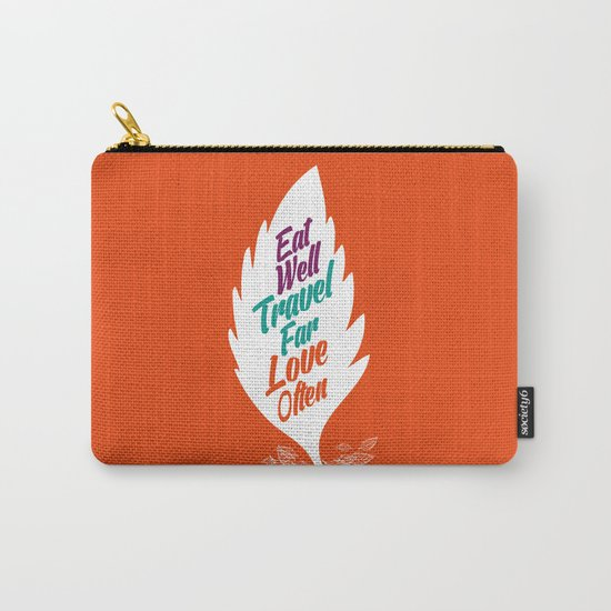 eat well travel far love often Carry-All Pouch