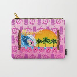 Pink Tiki And Hawaiian Surfing  Carry-All Pouch
