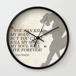 Famous Last Words: Huey Newton Wall Clock