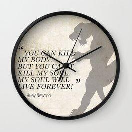 Famous Last Words: Huey Newton Wall Clock
