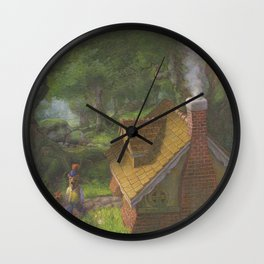 The Three Bears House Wall Clock